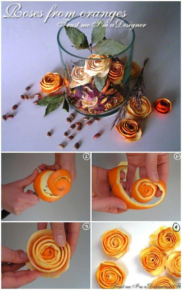 Criatividade: Flores secas de casca de laranja… além aromáticas por um bom tempo! « Maryworks