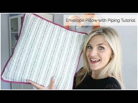 Envelope Pillow with Piping - Sewtorial