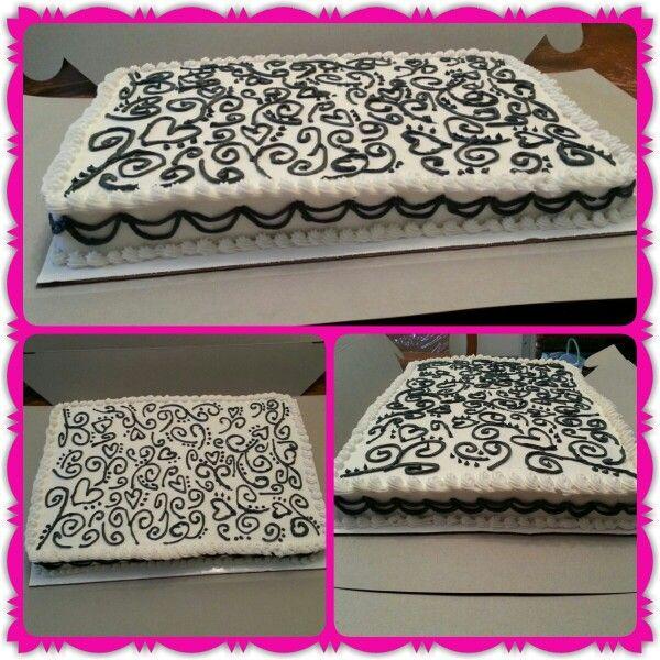 Cake Decorating Wedding Ideas: 19 Best Wedding Sheet Cake Ideas Images On Pinterest
