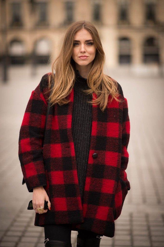 Red & Black Checkered Coat #geniune-people: