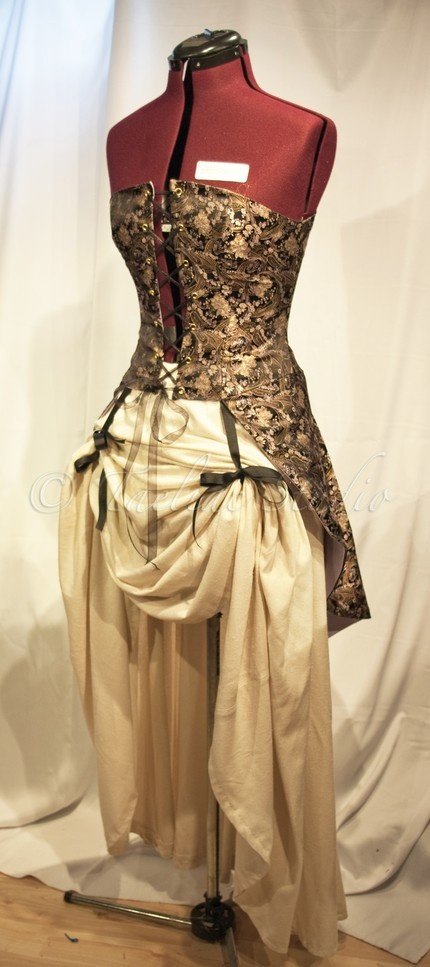 It's labeled a steampunk bodice. It has potential!