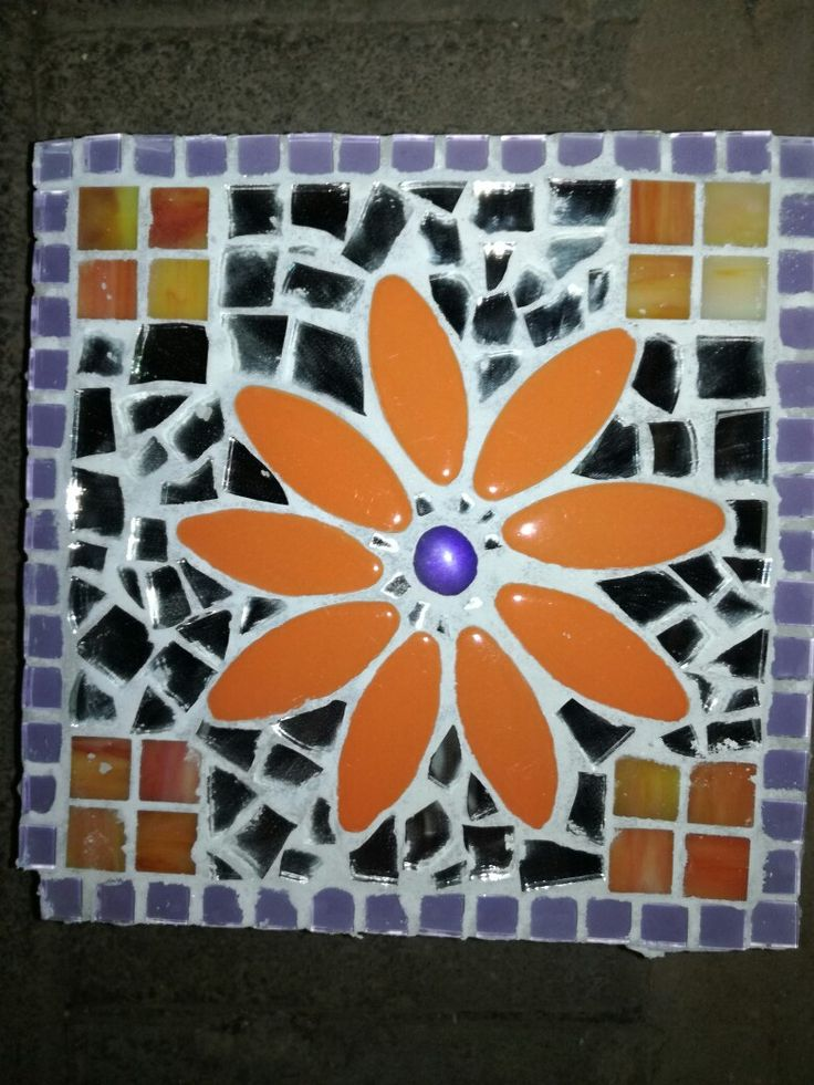 Square Mosaic stepping stone