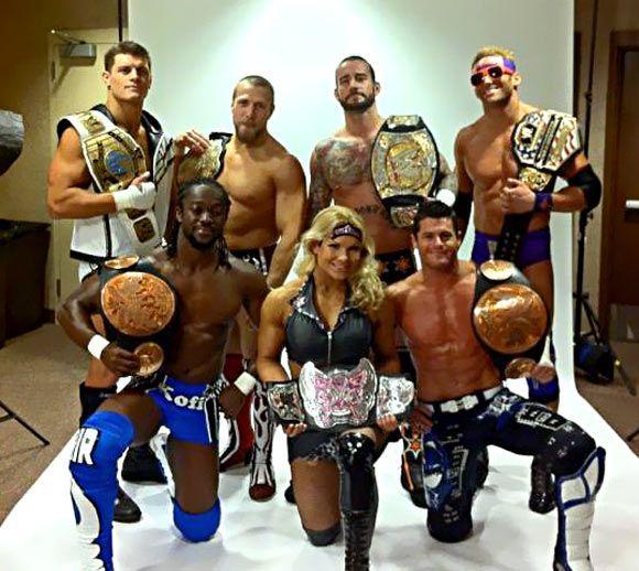 Best group of title holders Beth Phoenix Kofi Kingston and Evan Bourne Daniel