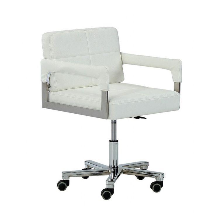 VIG Modrest Craig Modern White Bonded Leather Office Chair VGVCA508-WHT