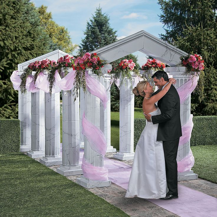 Marble Fluted Archway with Gossamer Accents - OrientalTrading.com