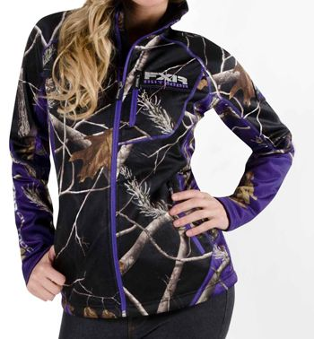 FXR Women's ELEVATION PILE ZIP UP - CAMO (2015). $99.99 - Sizes 2-18 •http://www.upnorthsports.com/snowmobile/snowmobile-clothing/mid-layer/fxr-womens-elevation-pile-zip-up-camo-2015.html