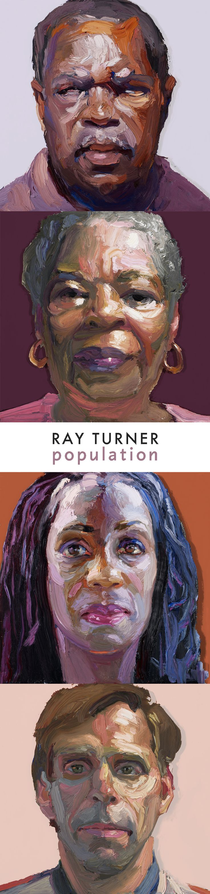 Portraits from Ray Turner's Population exhibition in Akron, Ohio. Ray Turner travels the country to meet and paint members of the community in the cities where Population is shown. Their portraits join hundreds of others in the ever-expanding Population exhibit.