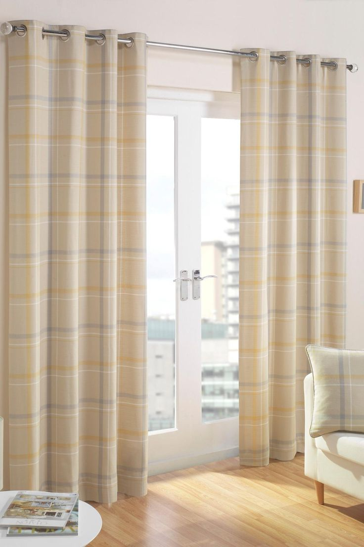Grey and yellow curtains uk john lewis - Lovely Soft Buttery Yellow And Dove Grey Checked Curtains From Per Pair