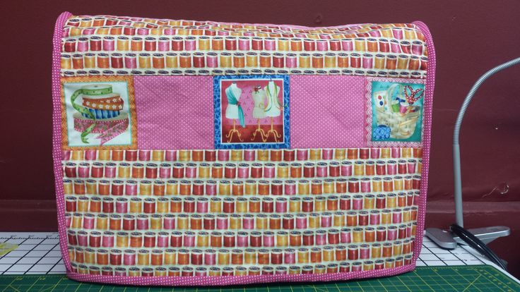 Finally I made a cover for my best friend... This fabric is so cute.. There is a pocket on the side