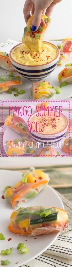 easy and simple vegan mango spring roll