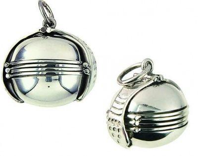Locket - PHOTOBALL PLAIN - Sterling Silver