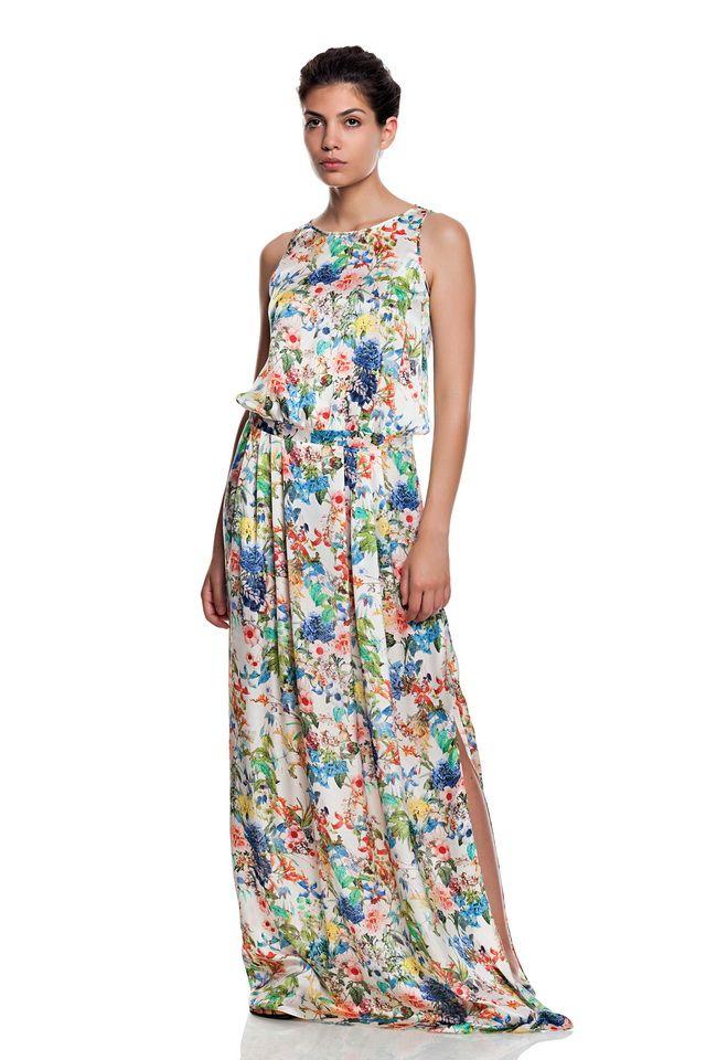 Low waist flower print dress.