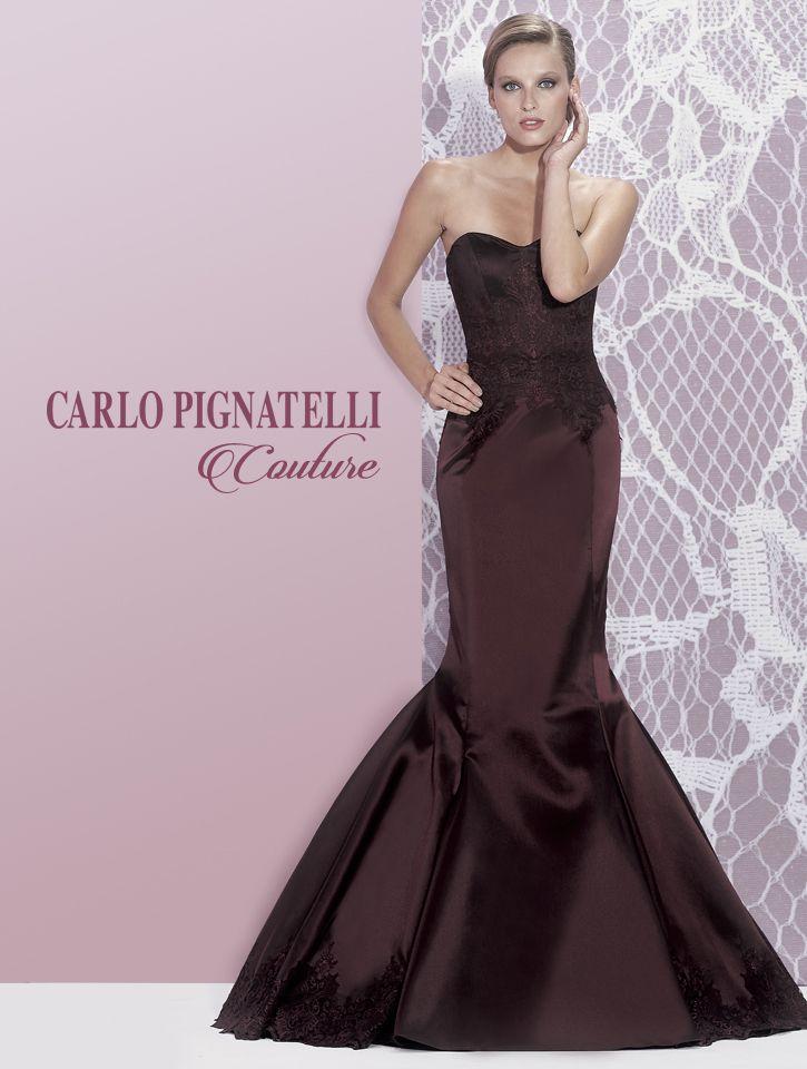 "Model ""Luisella"" - Carlo Pignatelli Couture 2015. #carlopignatelli #couture #sposa #bride #weddingdress #bridalgown #weddingday #matrimonio #madeinitaly #burgundy"