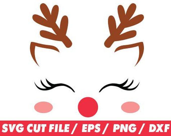 Download Reindeer svg, Reindeer face, Reindeer face svg, Reindeer ...