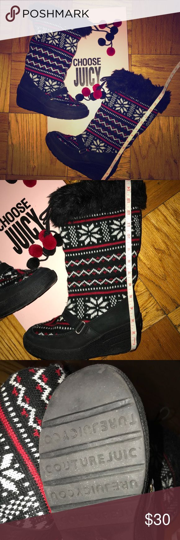 Juicy Couture Size 9  Winter Boots Lightly used Juicy Couture Size 9  Winter Boots. Very Warm Juicy Couture Shoes Winter & Rain Boots