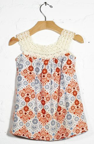 baby bean; lonny crochet dress - I could make this!