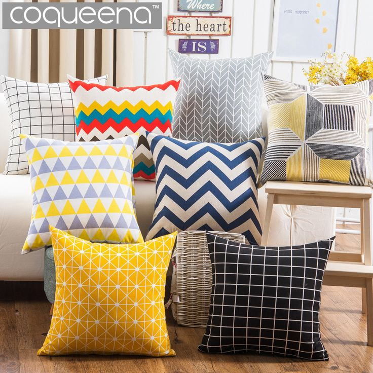 Cheap cushion cover pillow case, Buy Quality cushion cover directly from China cushion cover pattern Suppliers: Nordic Cheap Geometric Pattern Decorative Throw Cushion Covers Pillow Cases for Puff Sofa Seat Chair Garden Home Decoration