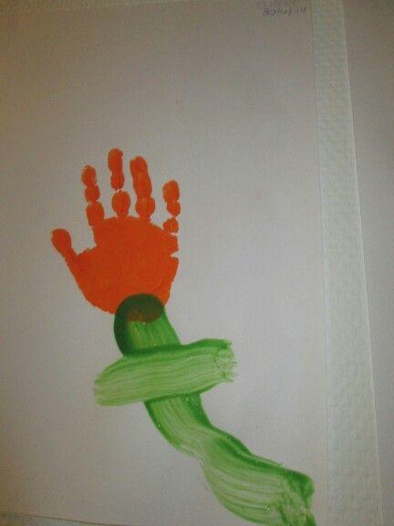 Hand bloem