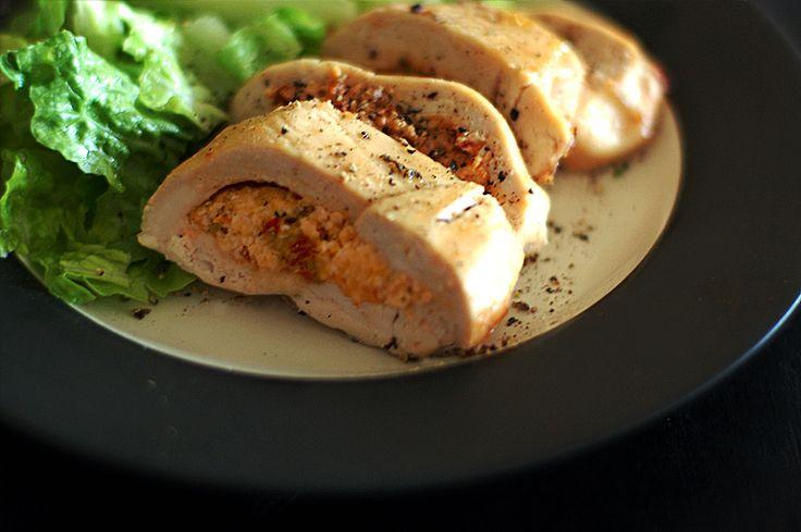 Φιλέτο κοτόπουλο γεμιστό με Flair Cottage Cheese