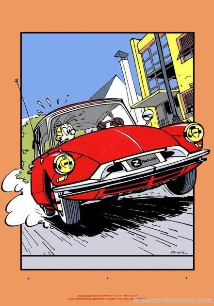 CITROEN DS avec Fanstasio (tiré de la BD Spirou et Fantasio / Dupuis Franquin) #citroenDS