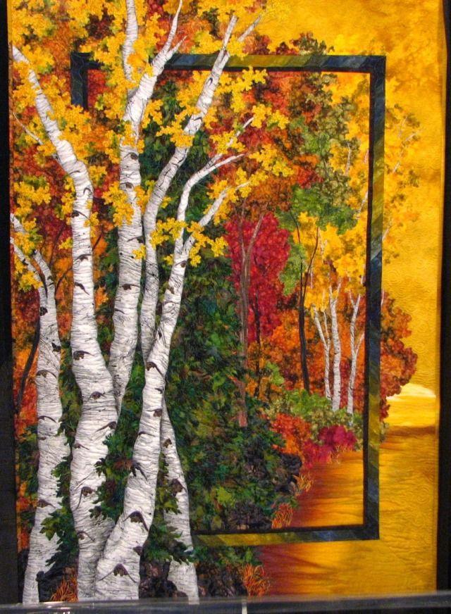Love Art Quilts--: Autumn Quilt, Quilts Landscape, Landscape Quilts, Art Quilts, Fabric Art, Fiber Art, Textile Art, Asked More Quilts, Autumn Birches