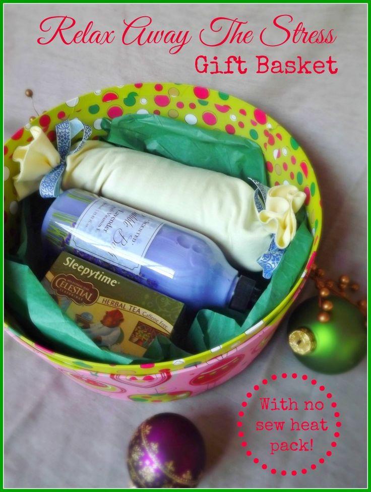Handmade Gifts Baskets : Relax away the stress gift basket teacher handmade