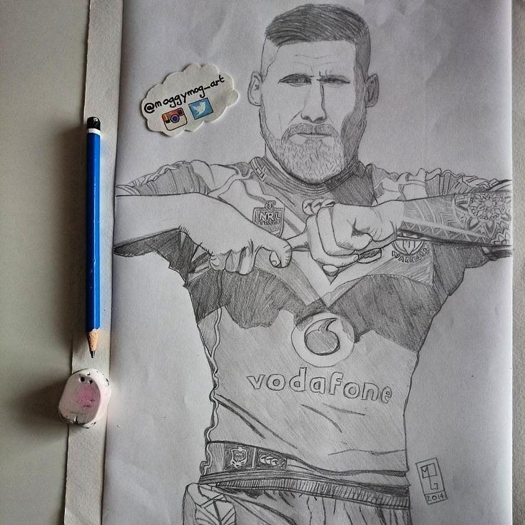 Pencil drawing of Sam Tomkin #pencil #drawing #samtomkins #warriorsforever #art #joiningjack #WarriorsArt Artist: @Moggymog_art