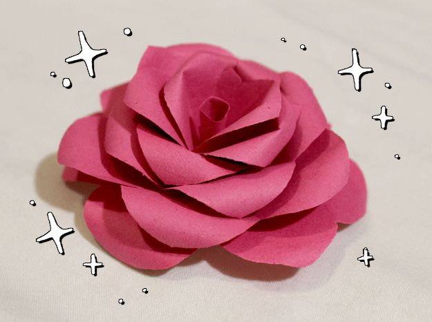 Picking out flowers is great; however, it's a short-lived joy.  Make these paper roses my hand that will last!