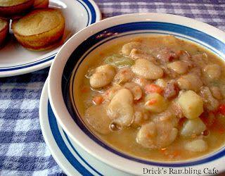 Drick's Rambling Cafe: White Lima Bean Soup from Ham-bone Stock
