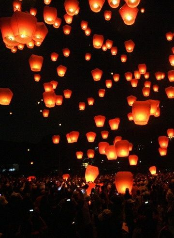 Lantern Festival- Taipei, Taiwan. I'm super sad that I missed this! I want to go back and experience it :)