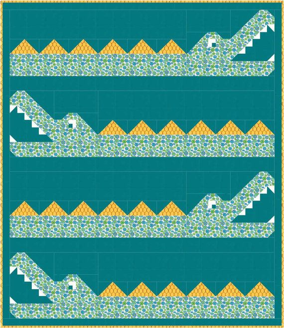 Animal Quilt Pattern baby quilt twin quilt PDF от SewFreshQuilts