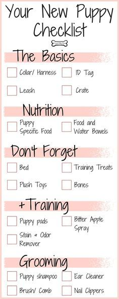 ♥ Spiffy Pet Stuff ♥  Your New Puppy Checklist | Dog Infographic |
