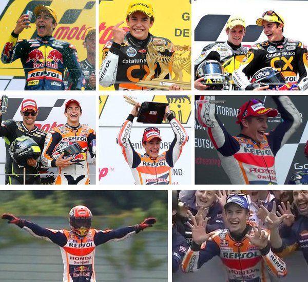 Marc Marquez ha vinto il Gp di Germania, nona prova del Mondiale MotoGp sul circuito del Sachsenring trasmesso in diretta streaming su Sky e TV8. Scattato