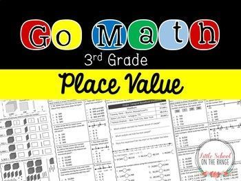 "Go Math Third Grade Supplement Chapter One: This unit serves as a supplement for the Go Math Third Grade Chapter One ""Place Value."" Each lesson contains two to three pages of supplemental material. These pages can be used for extra practice or RTI. The un"