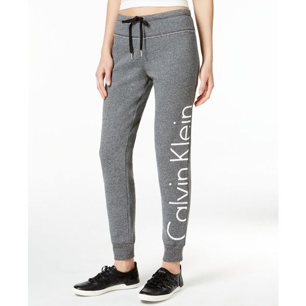 Calvin Klein Performance Sweatpants ($35) ❤ liked on Polyvore featuring activewear, activewear pants, black heather, calvin klein, yoga sweatpants, calvin klein sweatpants, yoga sweat pants and yoga activewear