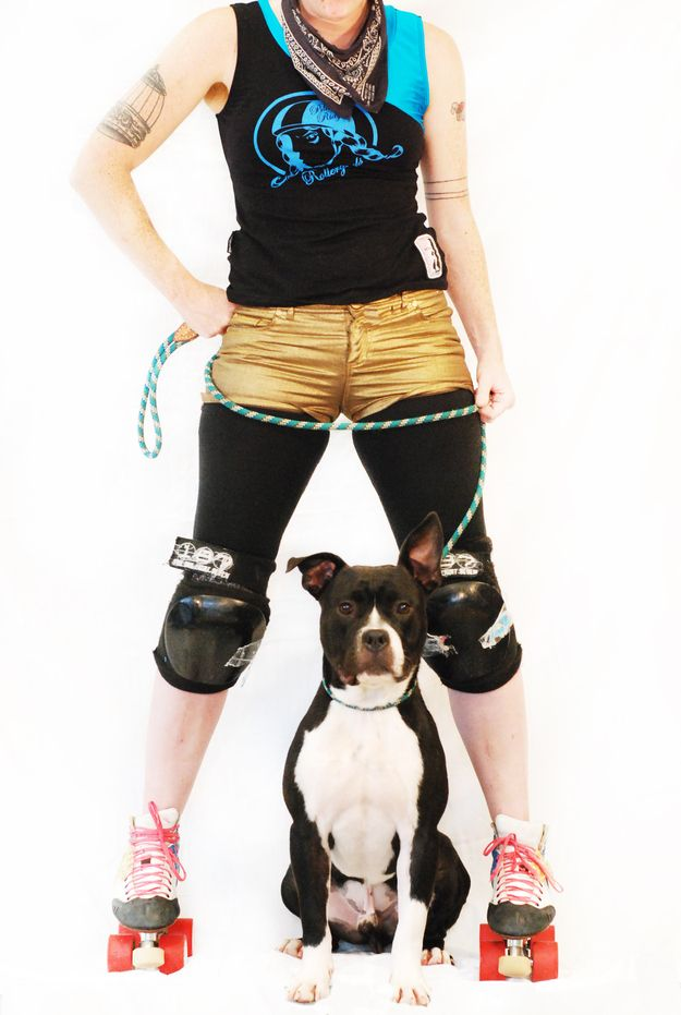 Speaking of cool pants, Xerses thinks that She Wrex is going to be a gold medal winner.   Shelter Animals Skate With the Blue Ridge Roller Girls from Asheville NC