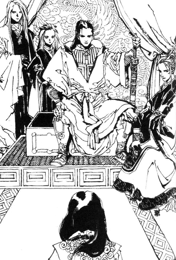 『風の海 迷宮の岸』十二国記 Juuni Kokki/Twelve Kingdoms - art by Yamada Akihiro 山田章博