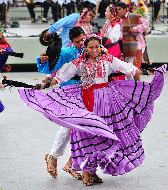 The colors of La Guelaguetza, the Radish Festival in Oaxaca.