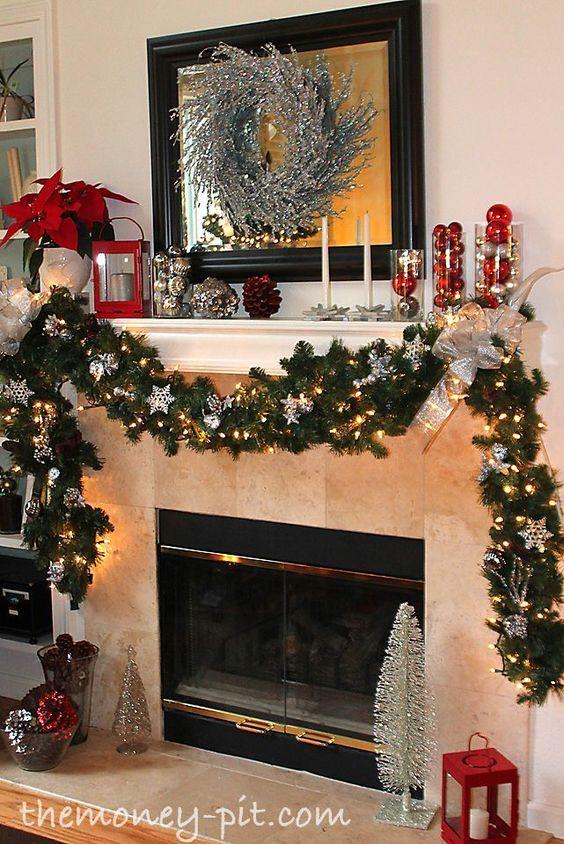 60 Cozy  Rustic Christmas Mantel Decor Ideas DIY and Crafts