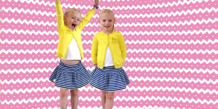 Double girls, double sided Shweshwe skirts. Shweshwe is traditional South African fabric. We give it a Cowgirlzzz touch, this time with yellow piping. Gorgeous! www.cowgirlzzz.com