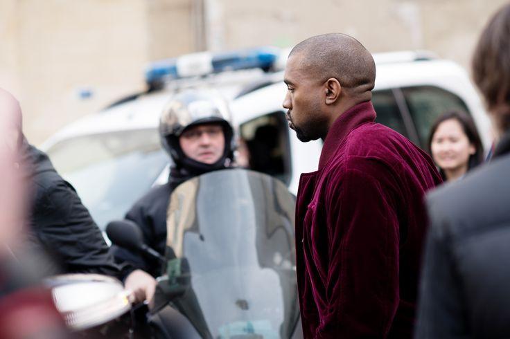 Kanye West at Haider Ackermann