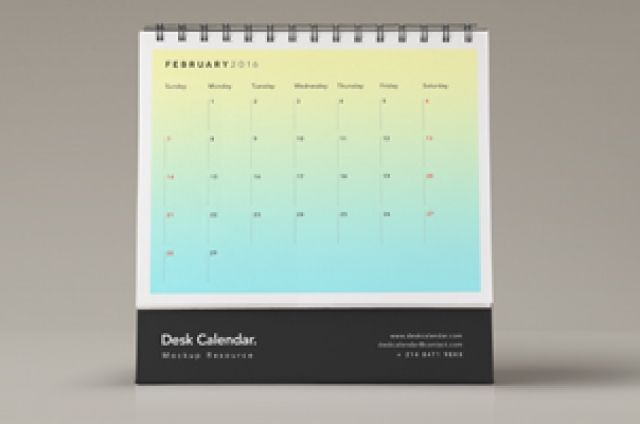 This is a front view of our desk psd calendar mockup series to let you display…