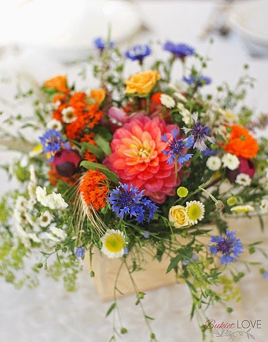 polne kwiaty na ślub