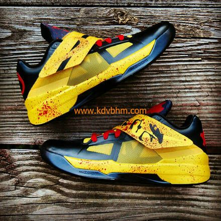 Hot Sale Nike KD V 5 id tartrazine yellow black 554988 700 kevin