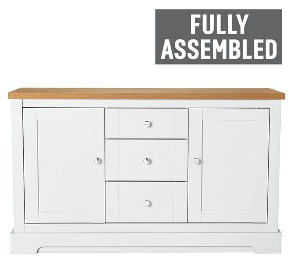 Buy Heart of House Westbury 2 Door 3 Drawer Sideboard - White at Argos.co.uk, visit Argos.co.uk to shop online for Sideboards and dressers, Living room furniture, Home and garden