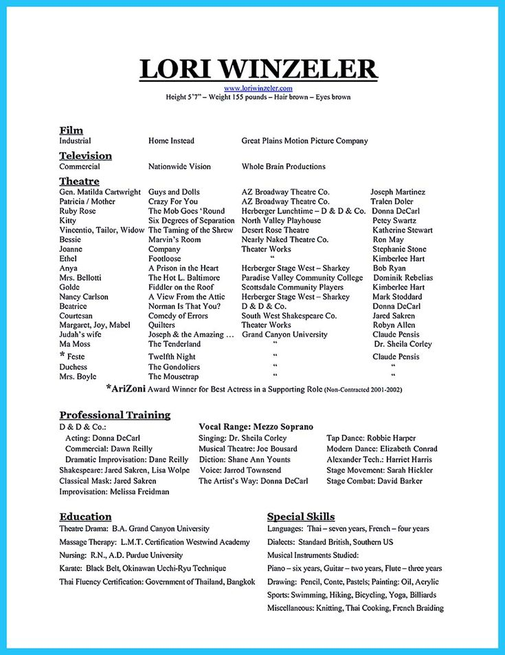 Oltre 25 fantastiche idee su Dance resume su Pinterest - how to write an impressive resume