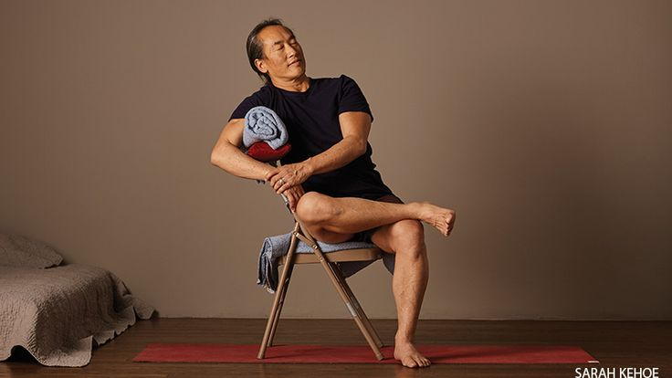 Easy Breathing Pose, with Chair