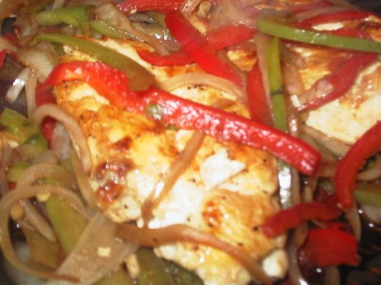 Balsamic Chicken Breasts With Peppers And Onions Recipe - Food.com
