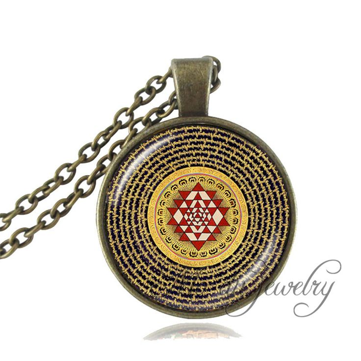 1pc Buddhist Sri Yantra Pendant,Sri Yantra Mandala Necklace Sacred Geometry Sri Yantra Jewelry,Buddhist Necklace Women Jewelry