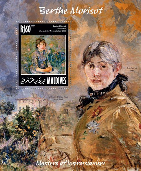 "MLD 14207 bBerthe Morisot (""Peasant Girl Among Tulips"" 1890)"